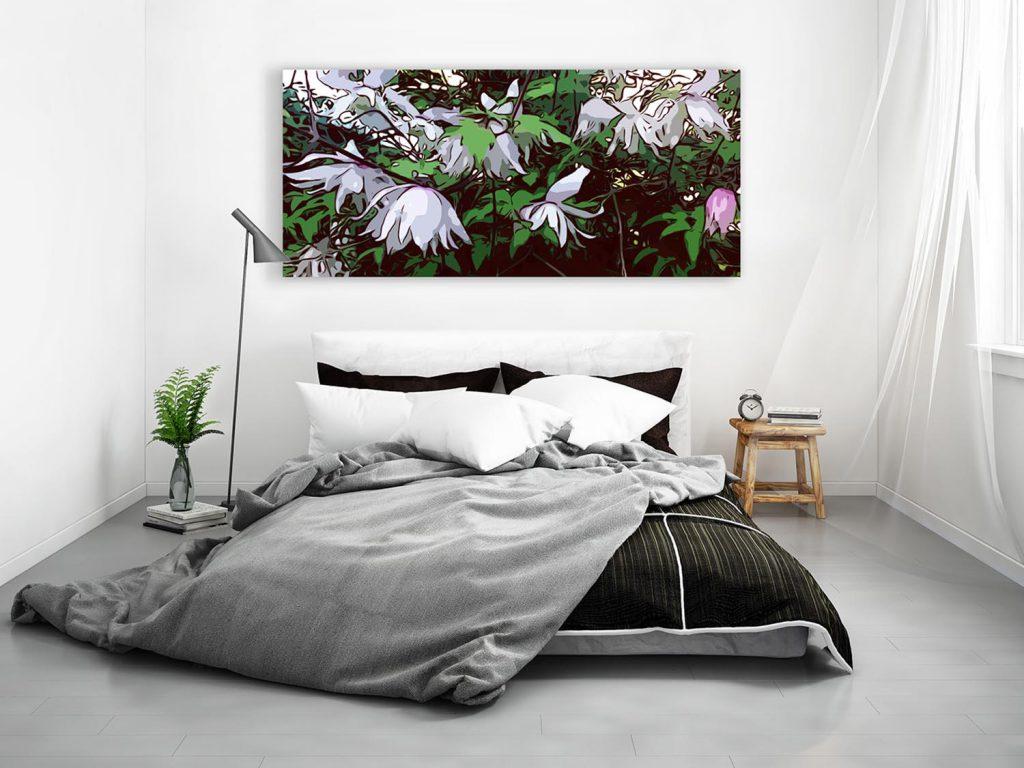 Blumenposter im Schlafzimmer made by Robert H. Biedermann