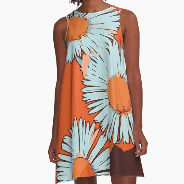 Blumenkleid orange
